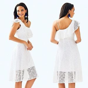 NEW Lilly Pulitzer White Callisto Terry Lace Dress
